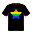 print for t-shirt with pride lgbt star vector image vector image