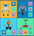 robot mechanisms collection vector image vector image