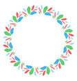 round feather frame design vector image vector image