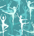 Seamless background of snowflake ballet dancers vector image vector image