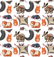 Seamless background with wild animals vector image vector image