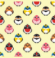 seamless colorful cute bird pattern vector image
