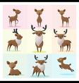 set deer family vector image