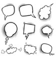 set empty comic style speech bubbles vector image