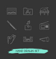 set of studio icons line style symbols with music vector image