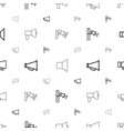 shout icons pattern seamless white background vector image vector image