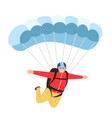 skydiver isolated on white vector image vector image