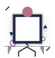 square frame design geometry vector image