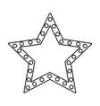 star award emblem symbol vector image