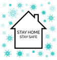 stay home stay safe coronavirus quarantine vector image
