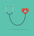 Stethoscope Heart Checking vector image vector image
