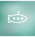 Submarine thin line icon vector image