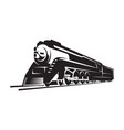 template with a locomotive vintage train vector image vector image