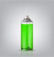 transparent aerosol spray can vector image vector image