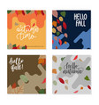 trendy abstract square banner templates vector image
