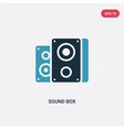 two color sound box icon from technology concept vector image