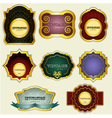 vintage gold labels set vector image