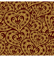 wedding gold seamless wallpaper pattern with heart vector image vector image
