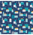 Winter town - seamless pattern vector image vector image