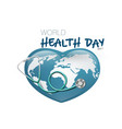 world health day with medical stethoscope on earth vector image
