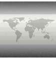 World map with the shadow on gray background vector image vector image