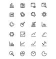 Data Analytics Line Icons 1 vector image