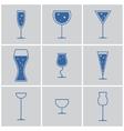 drink glasses vector image