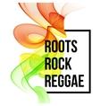Reggae color wave poster design vector image