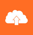 cloud icon internet download symbol flat on vector image