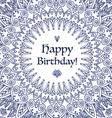 Mandala Happy Birthday Card vector image