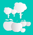 Paper Apples and Trees vector image