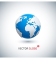 3D realistic globe icon vector image vector image