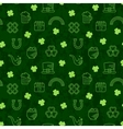 Abstract green seamless line art grunge pattern vector image vector image