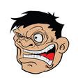 angry fat man vector image