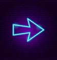 arrow neon sign 5 vector image vector image