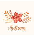 Autumn floral card Nature symbol vector image vector image