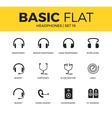 Basic set of Headphones icons