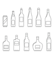 Beverages thin icons vector image vector image