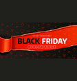 black friday sale banner poster logo sale vector image