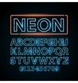 blue neon lamp letters font show vegas vector image vector image