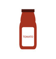 bottle sauce icon vector image vector image