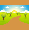 cartoon spring or summer landscape vector image vector image