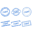 Chat stamps vector image