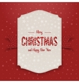 Christmas realistic big Poster Template vector image