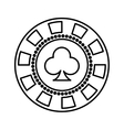 coin casino isolated icon vector image