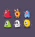 collection monsters with electrical toxical vector image vector image