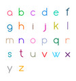 colorful thin letters vector image vector image