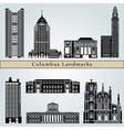 Columbus landmarks and monuments vector image