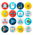 data graph flat icons vector image