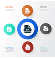 document icons set collection of document png vector image vector image